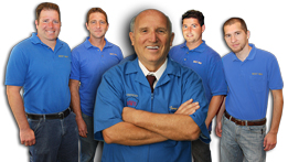 Stone tile restoration team
